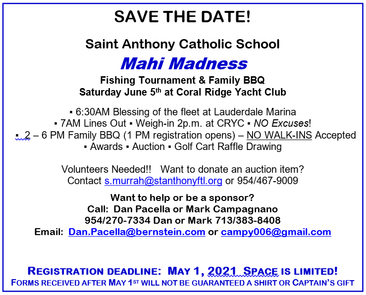 Mahi Madness Information & Registration
